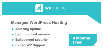 WP Engine WordPress Hosting - 5 Months Free!