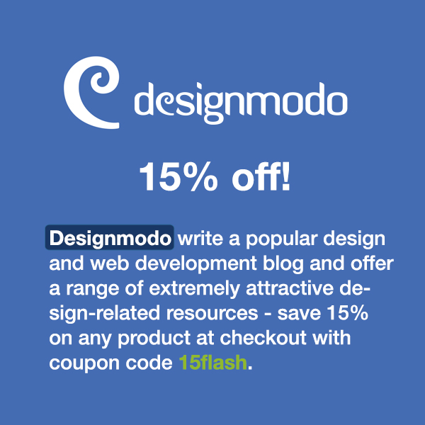 Designmodo write a popular design and web development blog and offer a range of extremely attractive design-related resources - save 15% on any product at checkout with coupon code WinningWP