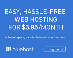 Bluehost web hosting from $3.95 per month!