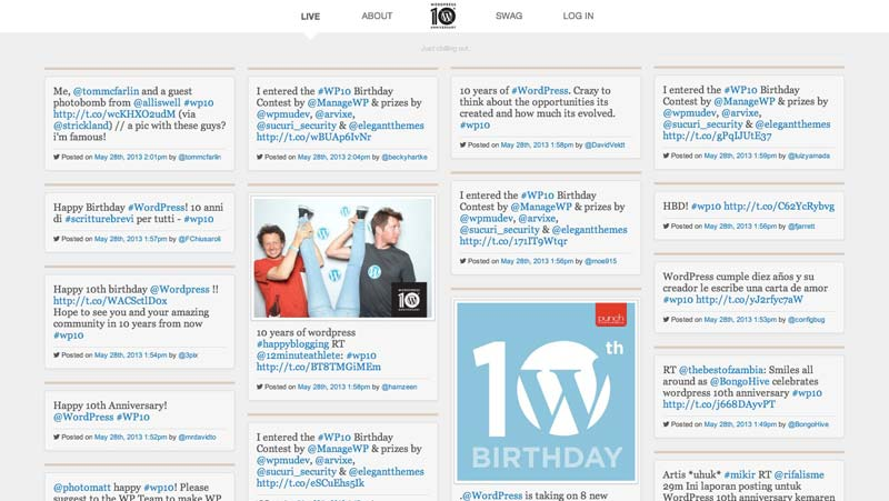 WordPress-10th-Anniversary-Website