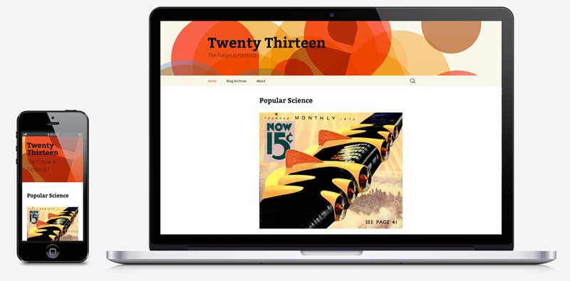 New Twenty Thirteen Default Theme