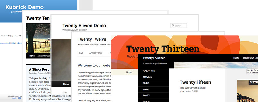 WordPress Default Themes Through The Ages - Featured Image