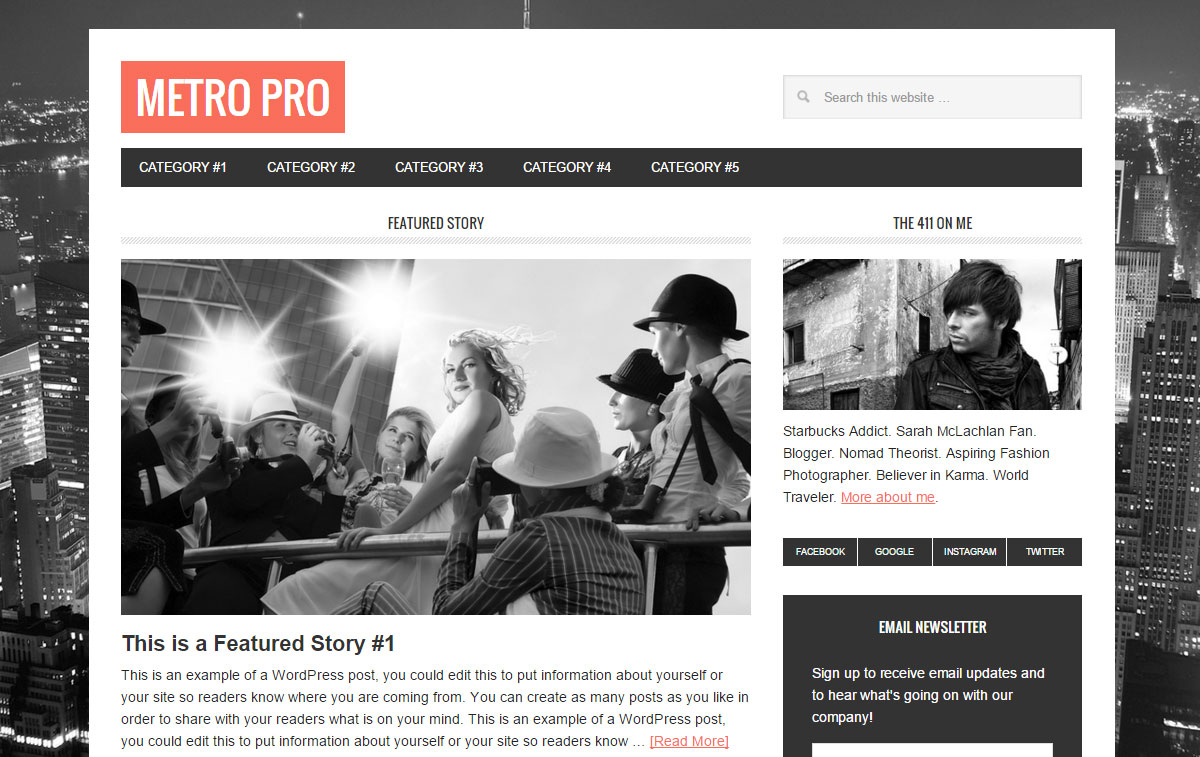 a place to call home setting executive pro review studiopress StudioPress Themes Review Metro Pro