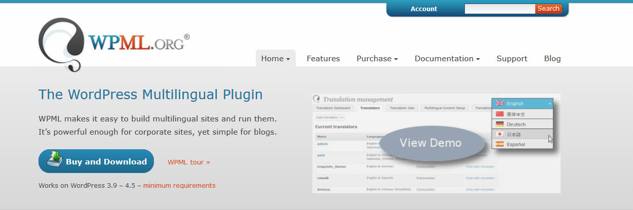Let S Start With By Far The Best Known Plugin On Today List WordPress Multilingual Better As Wpml It Supports More Than 40 Languages Out
