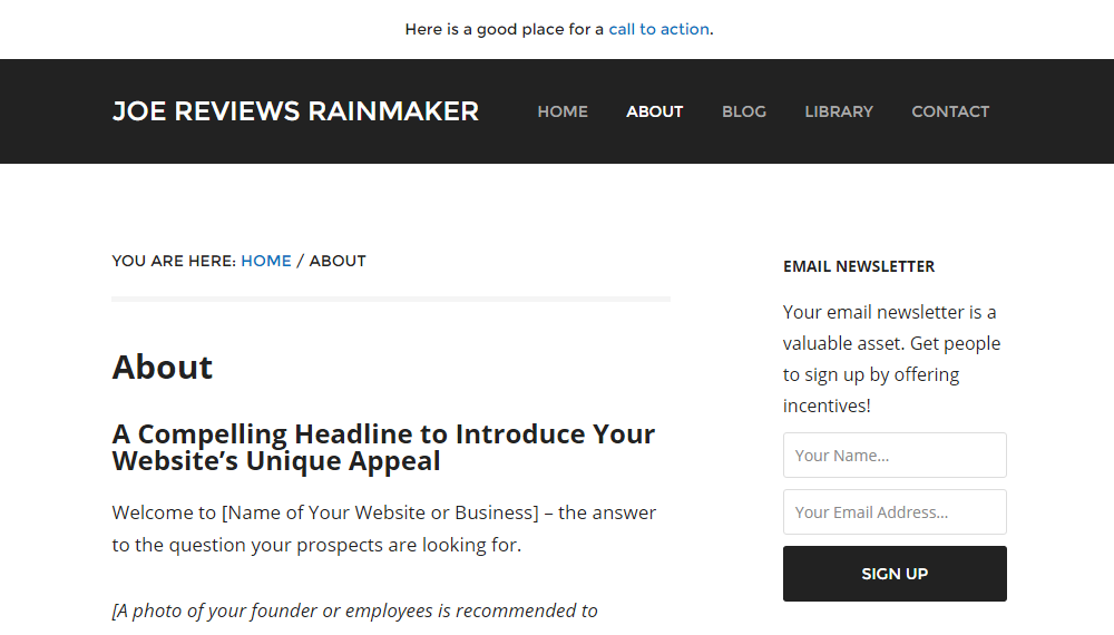 Rainmaker Review Page