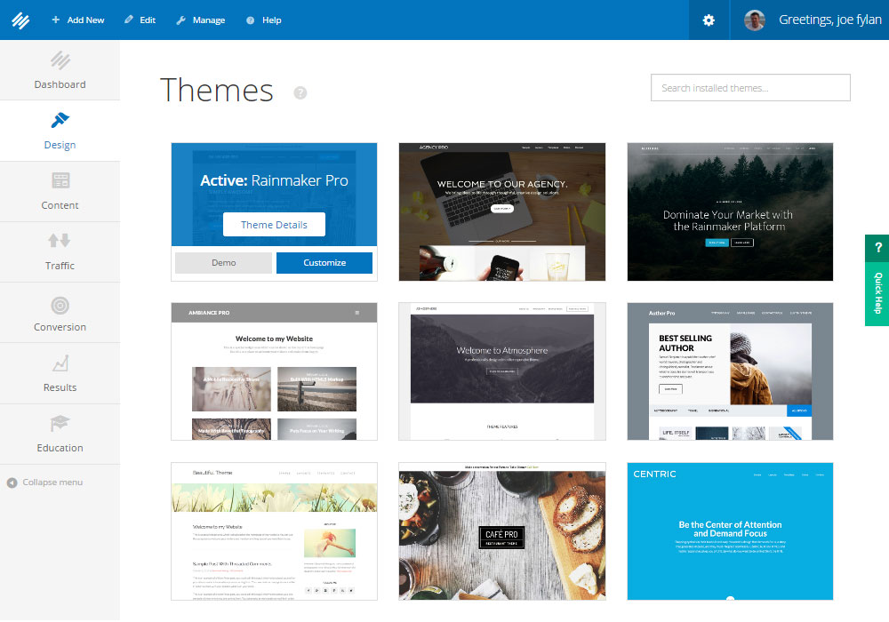 Rainmaker Review Themes