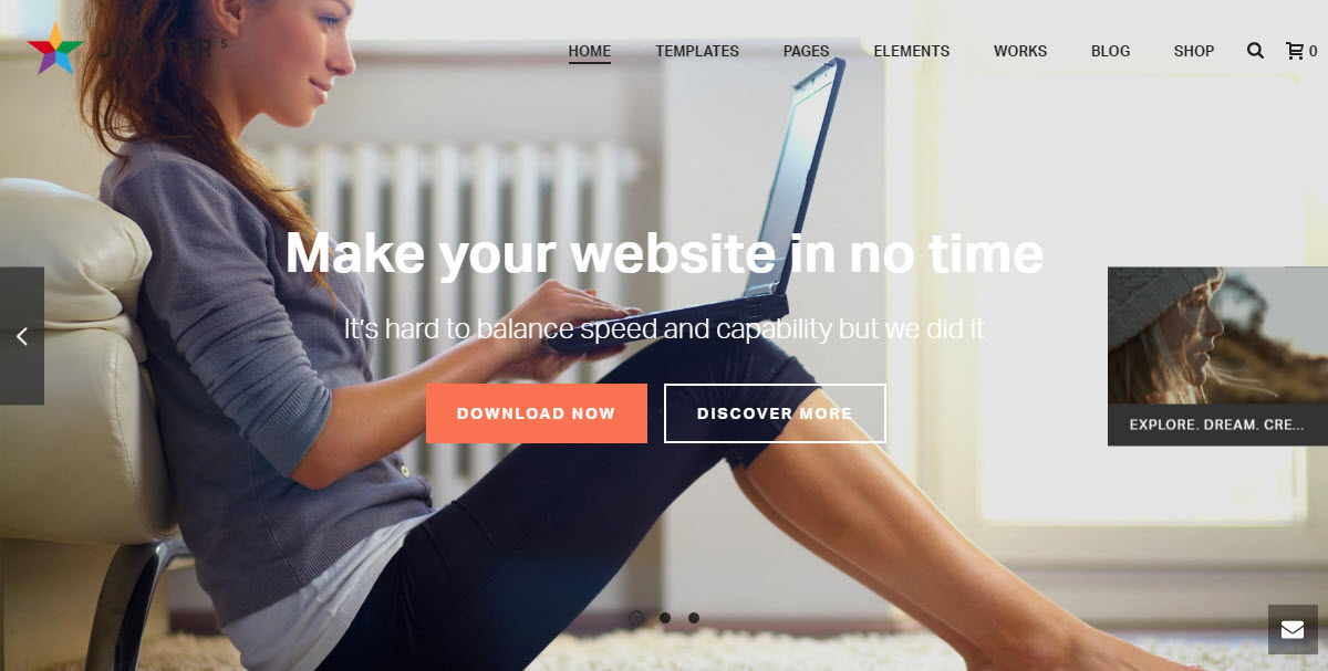 Jupiter best-selling multi-purpose WordPress Theme