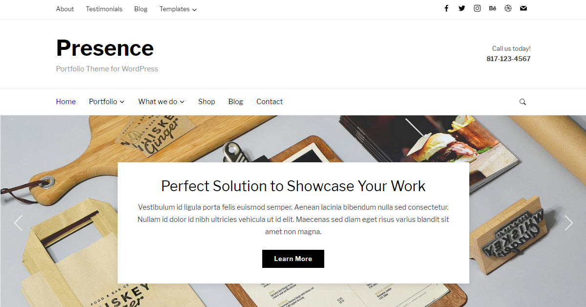 The Presence WordPress Theme from WP Zoom