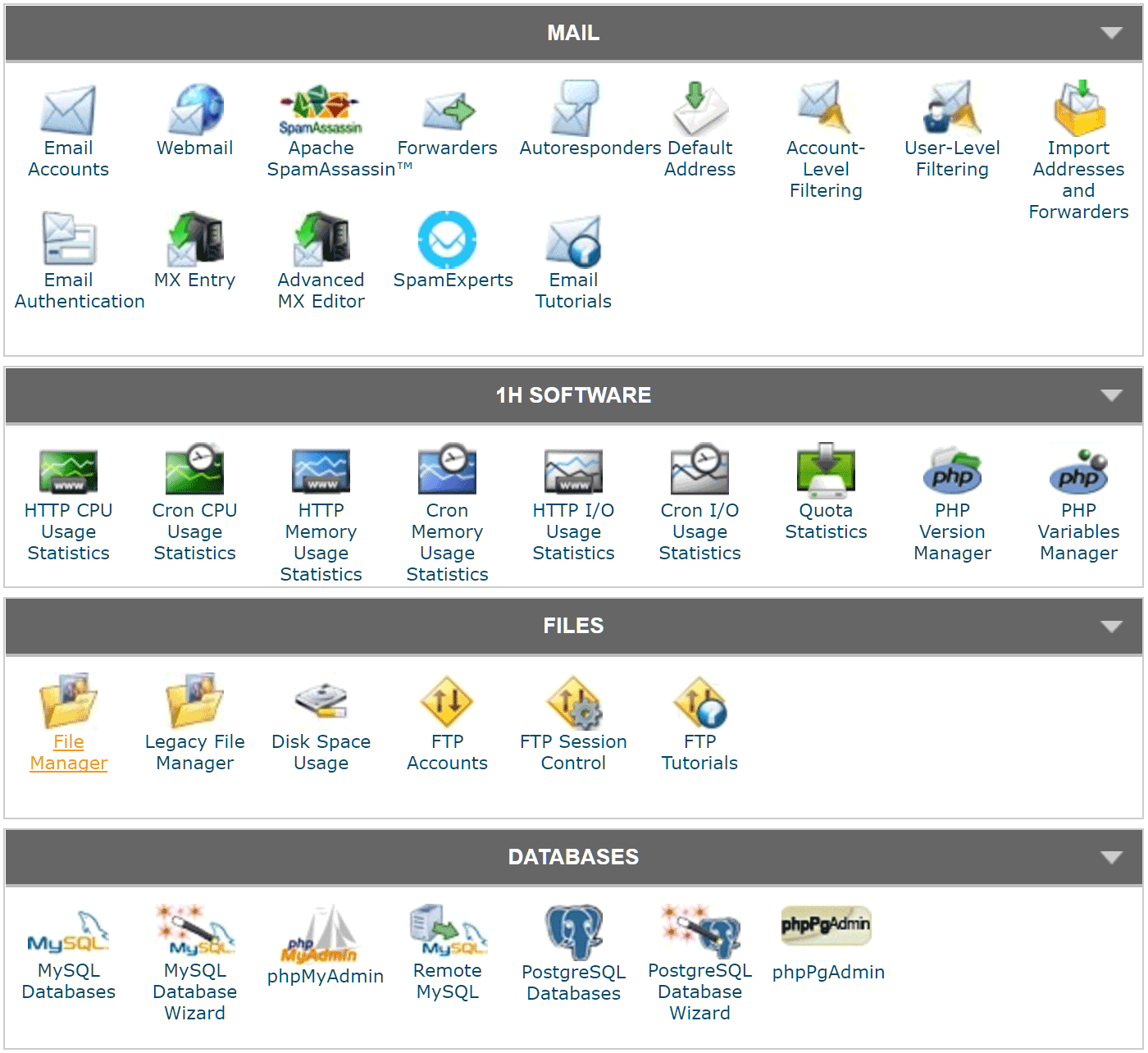 More from the SiteGround cPanel