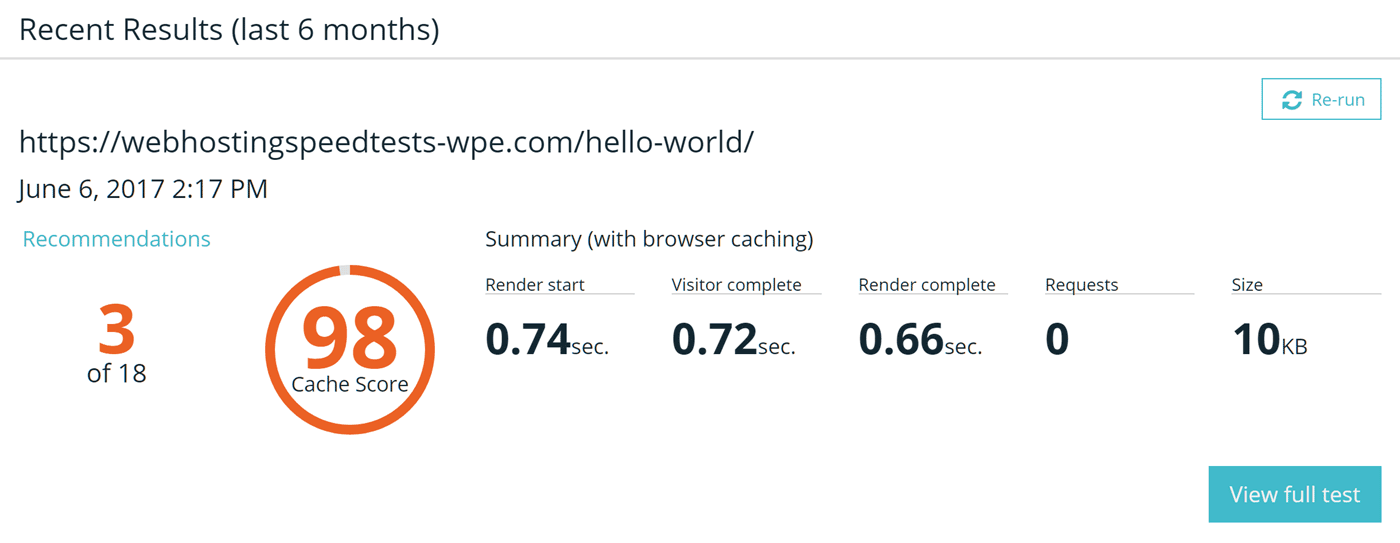 WP Engine Page Performance Tools