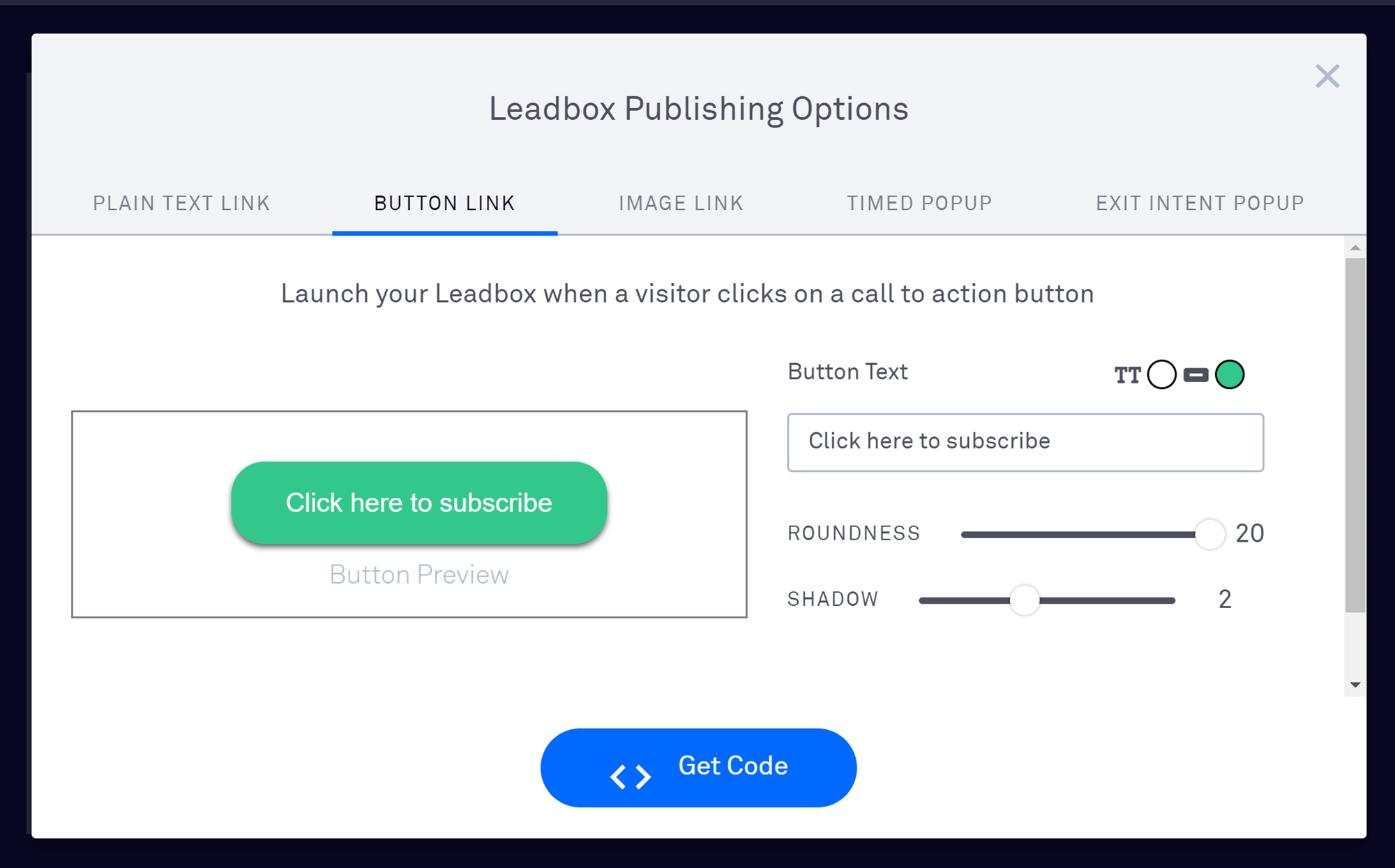 Leadboxes Options Page