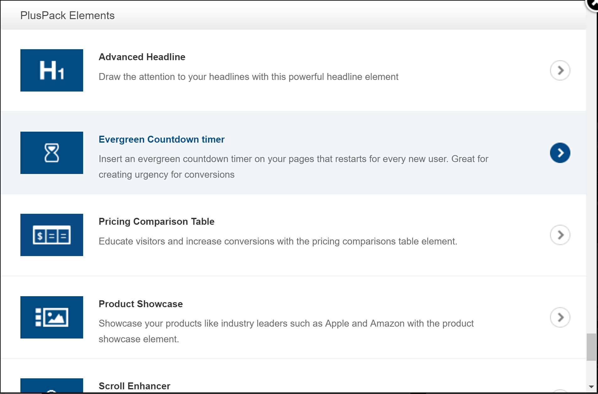 OptimizePress Landing Page Elements