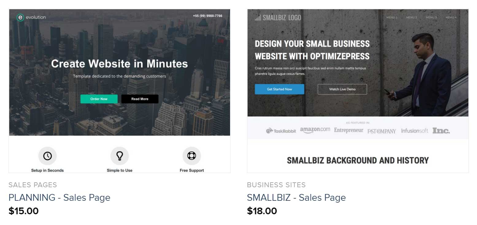 OptimizePress Template Marketplace