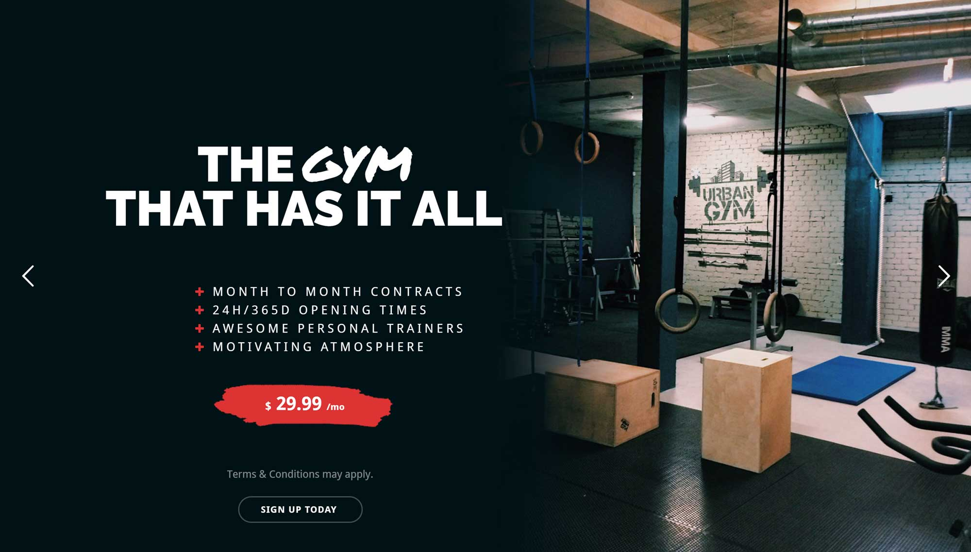 Total Gym Website Demo