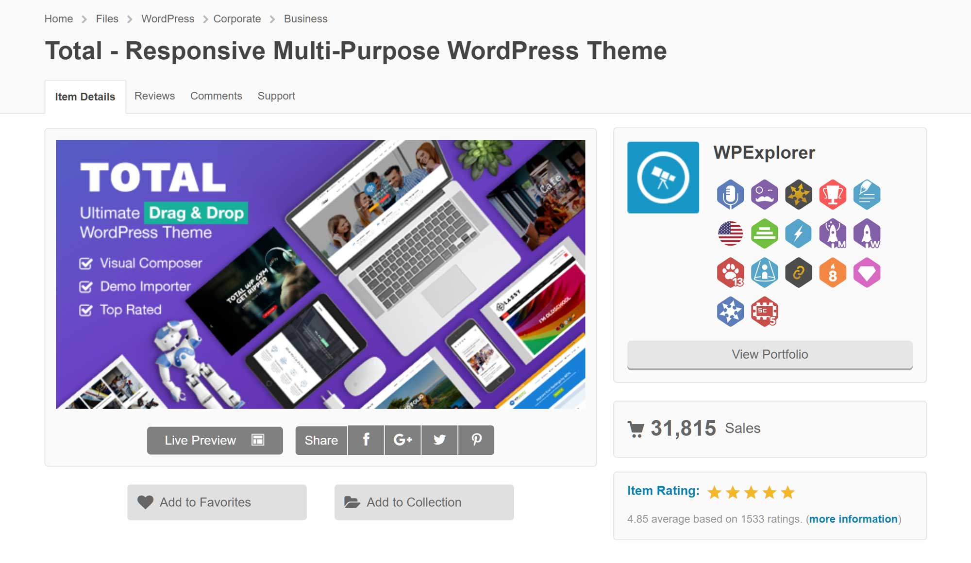 Total Theme at ThemeForest