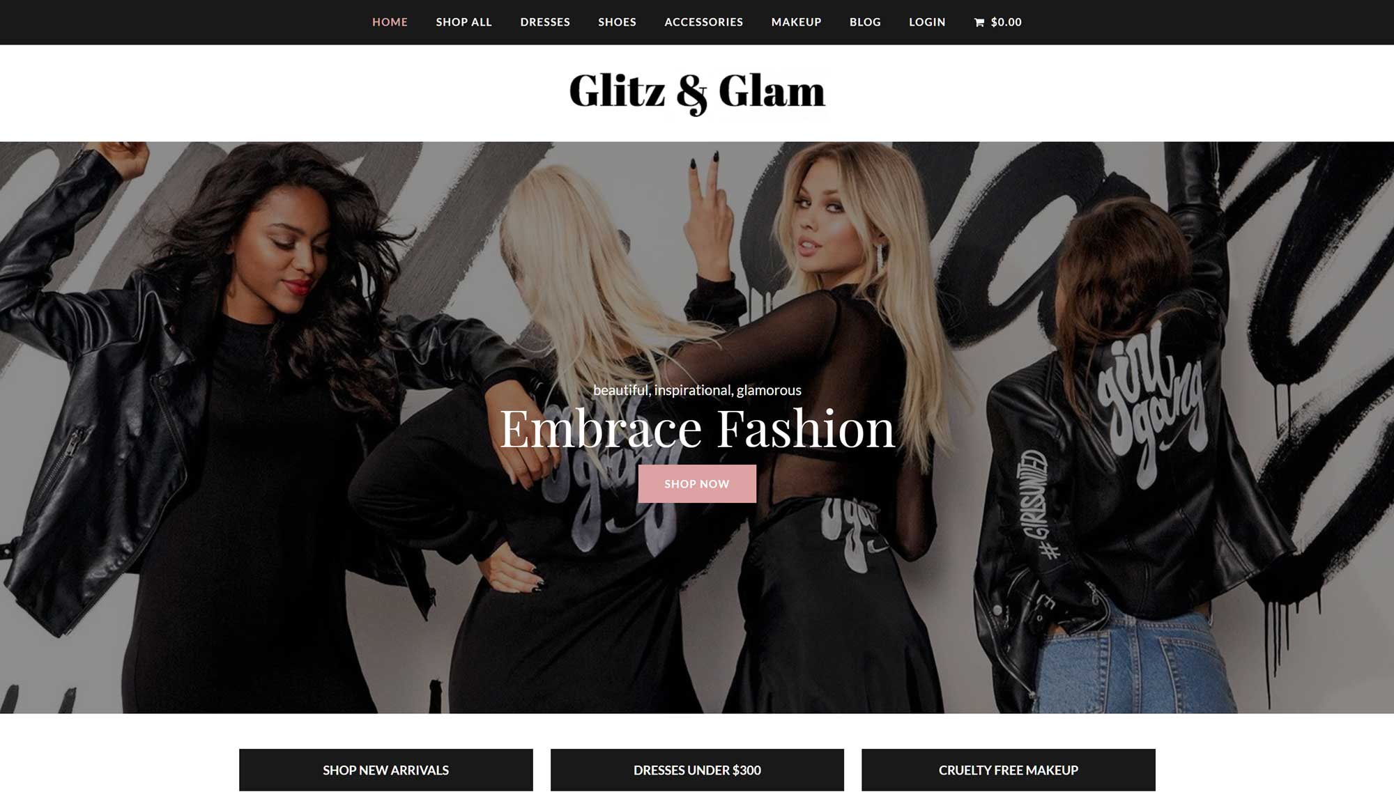 Total Theme Fashion Website Demo
