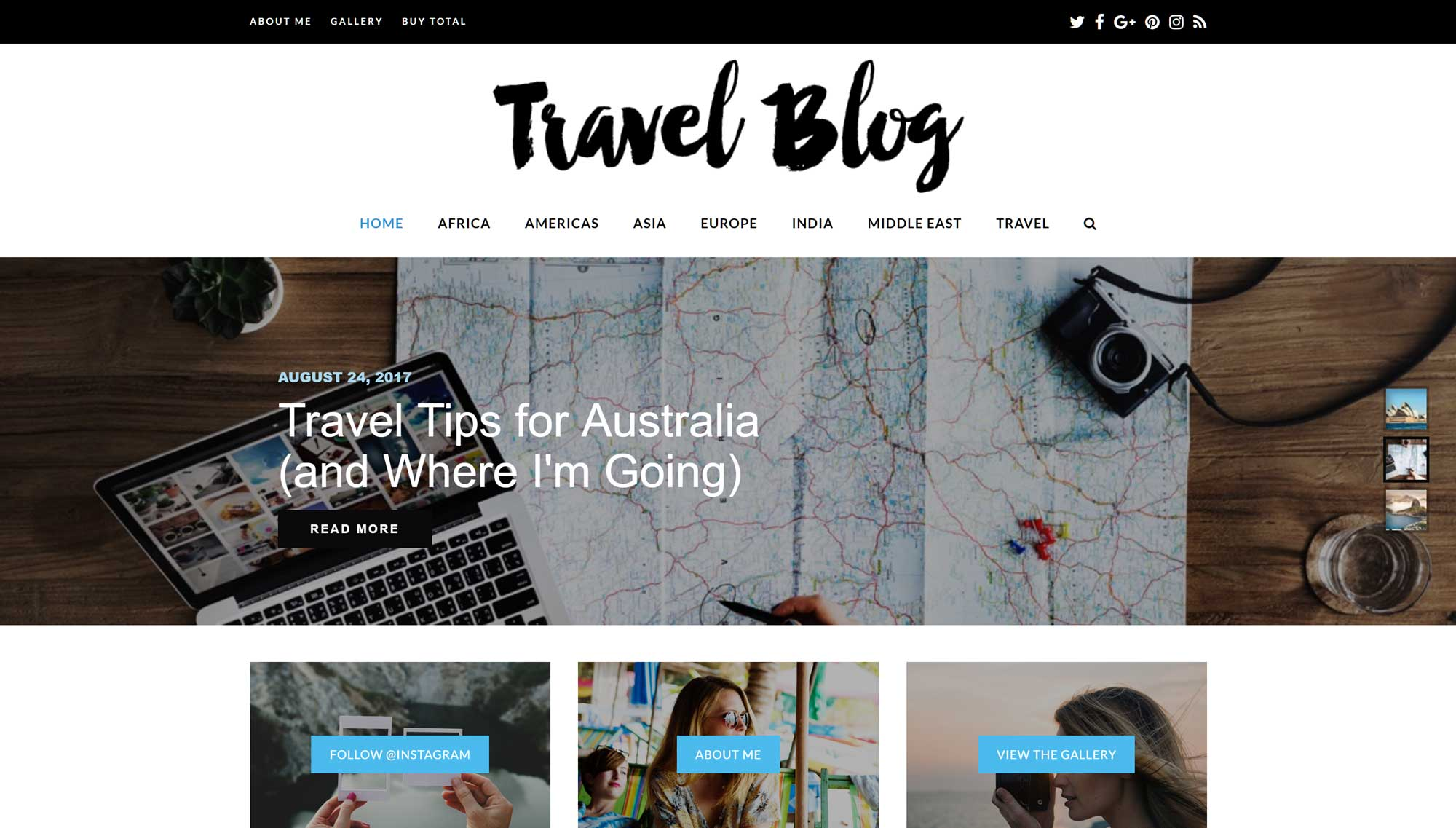 Total Travel Website Demo
