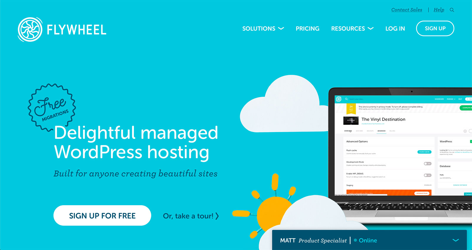 Flywheel WordPress Hosting - Homepage