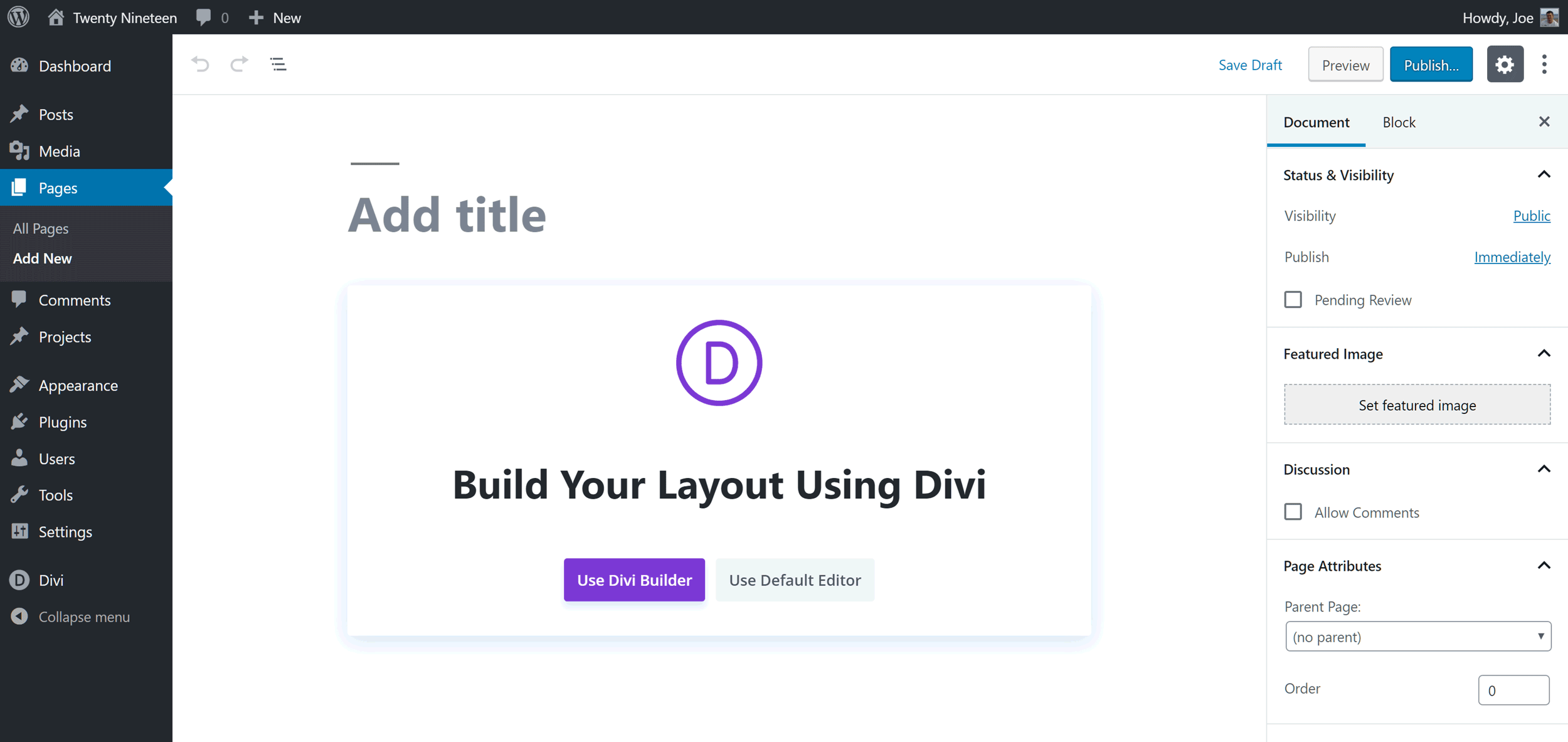 Divi Builder and Gutenberg Editor