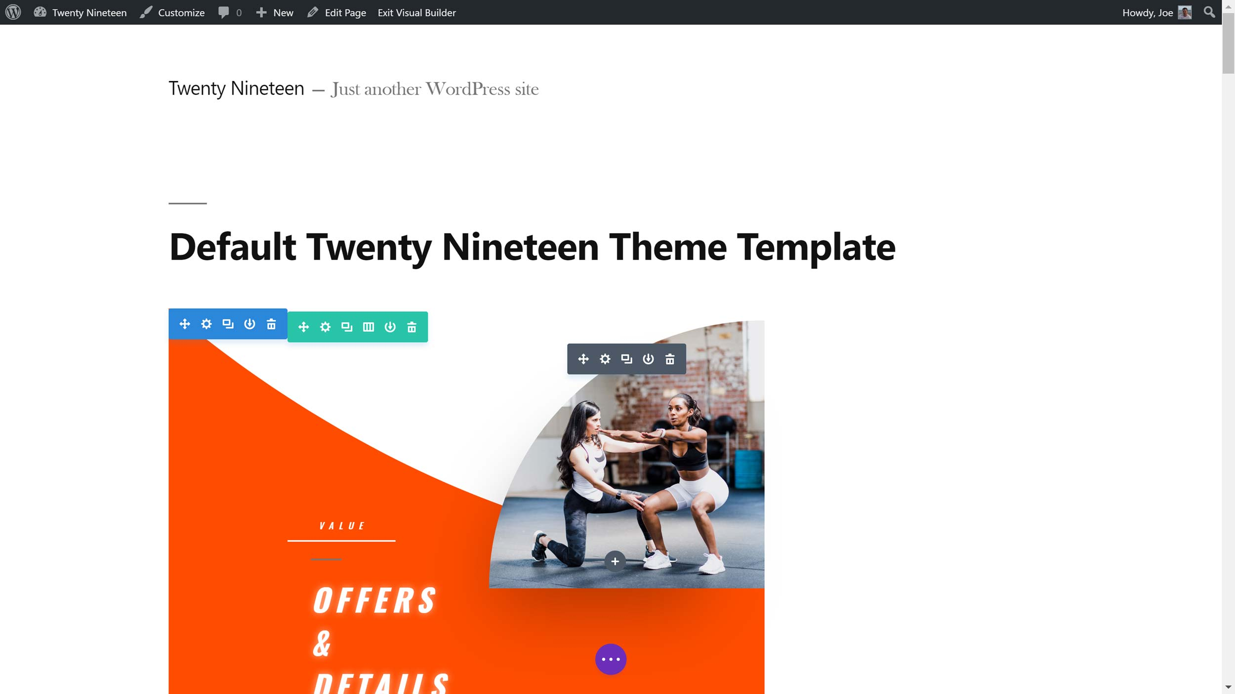 Default Twenty Eighteen Theme Template