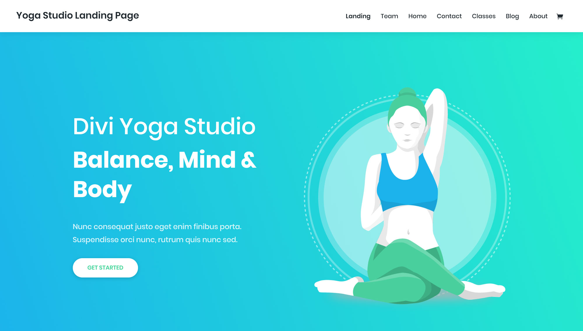 Yoga Studio Website Layout Pack