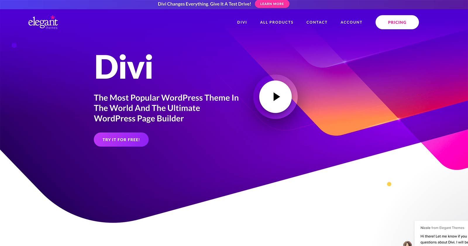 Divi Builder Plugin Homepage