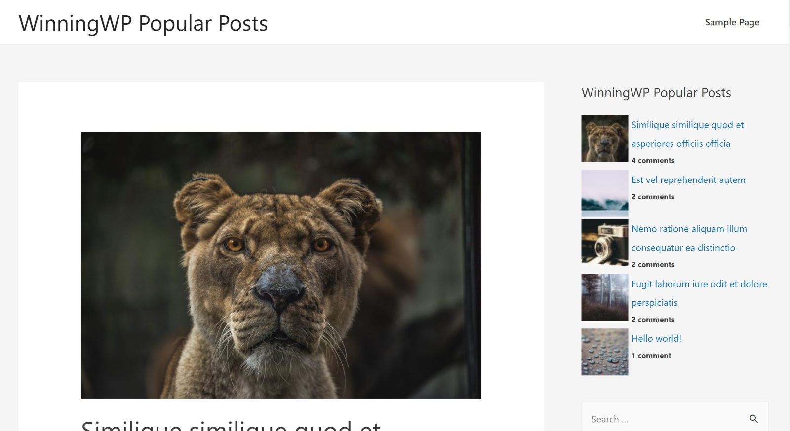 WordPress Popular Posts example