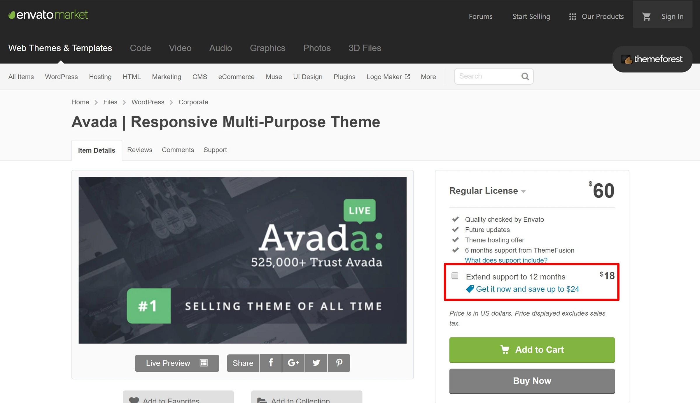 support des developpers themeforest