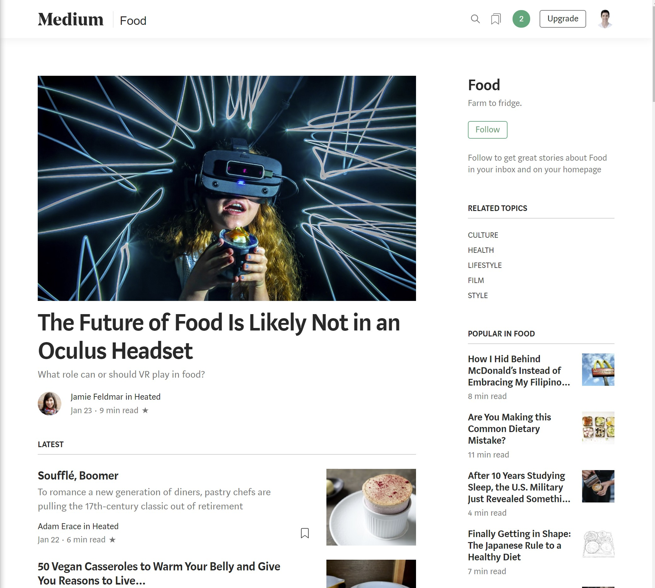 An example of a Topic on Medium